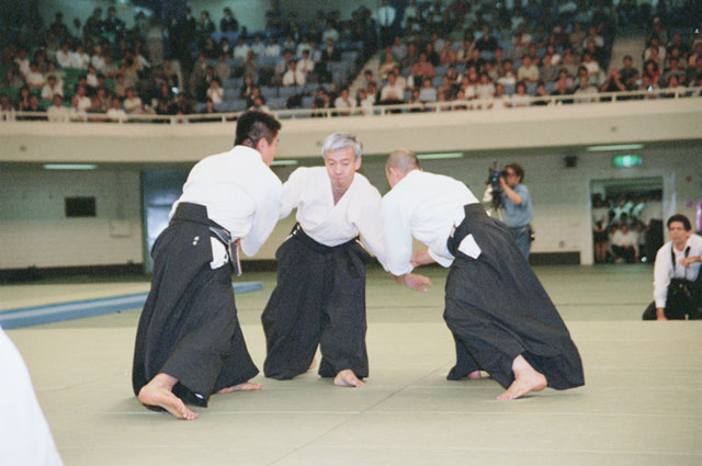 Aikido Doshu Moriteru Ueshiba at All-Japan Aikido Demonstration c. 2000