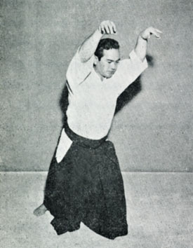Koichi Tohei demonstrating a warmup exercise