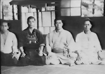 Rinjiro Shirata, second from right, c. 1935