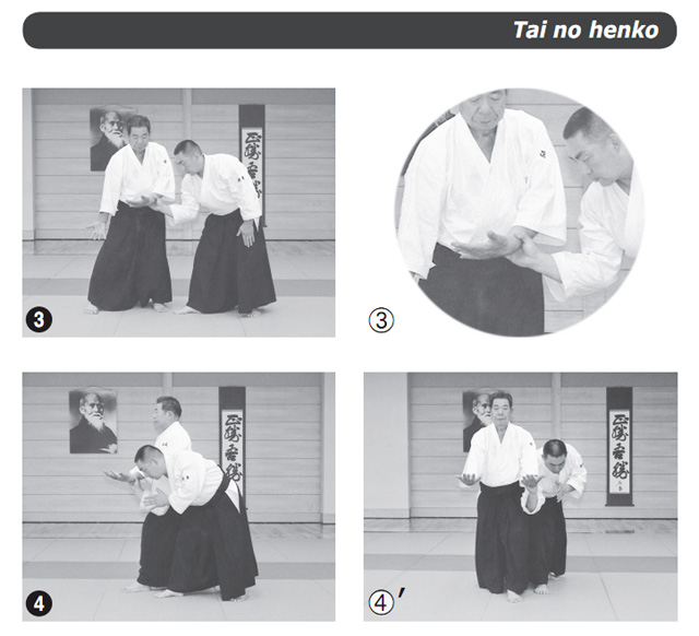 Morihiro Saito executes tai no henko from &quot;Takemusu Aikido, Volume 1: Background &amp; Basics&quot;
